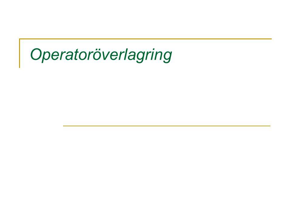 Operatoröverlagring
