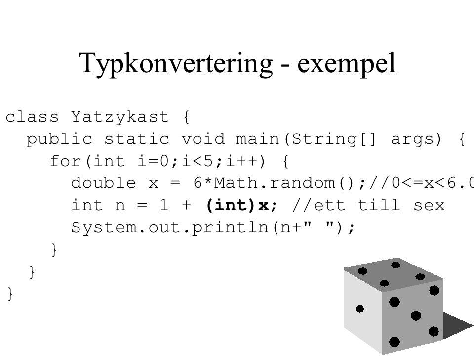 Vektor (array) En vektor är en numrerad lista med värden.