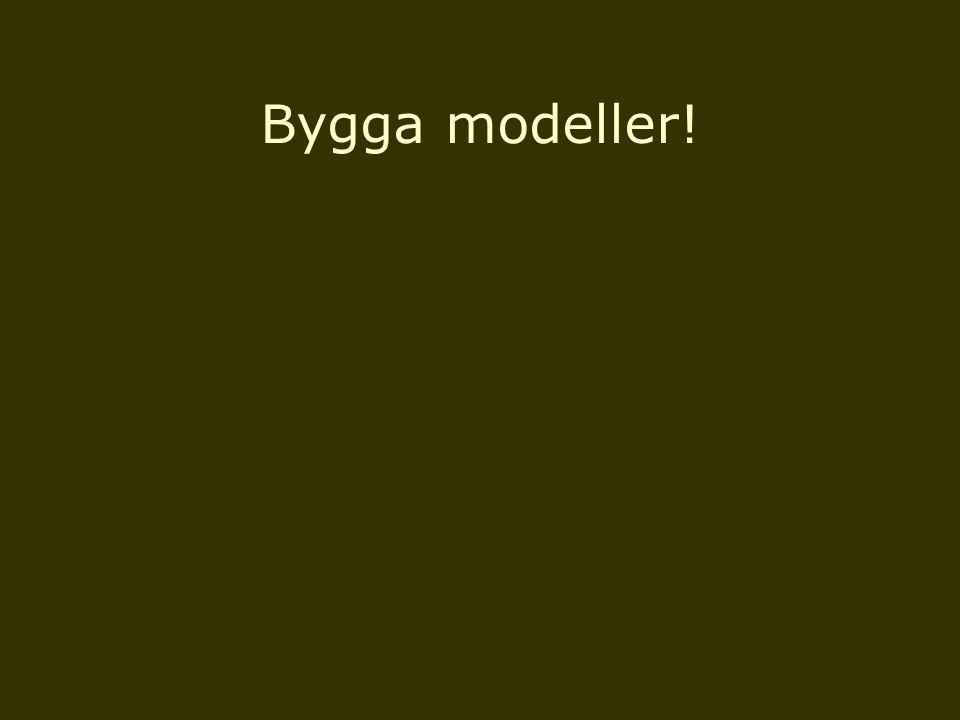 Bygga modeller!