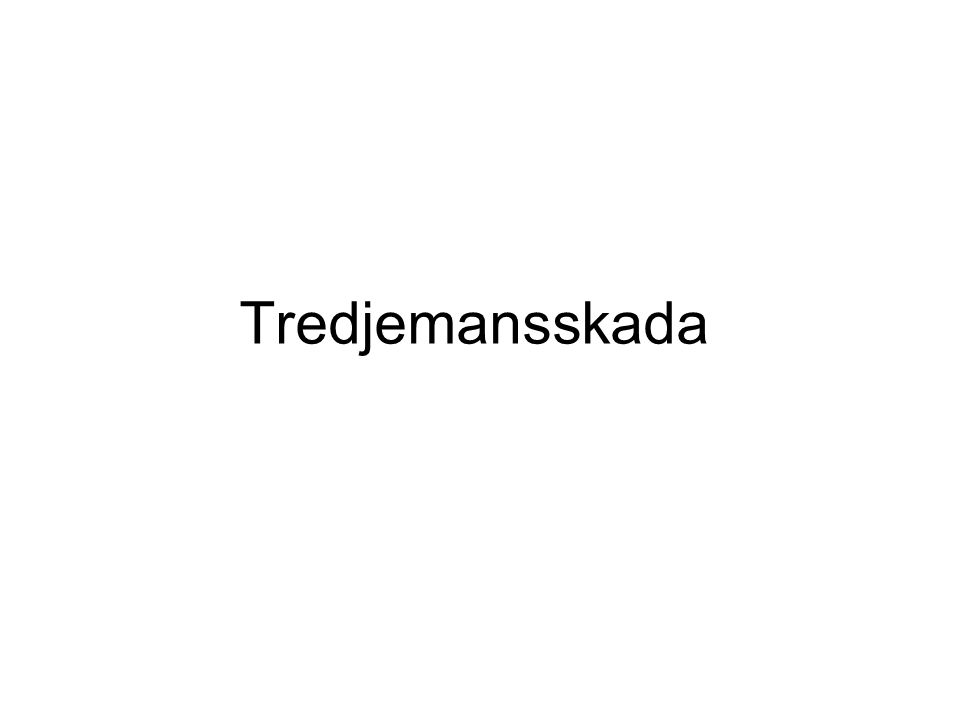 Tredjemansskada