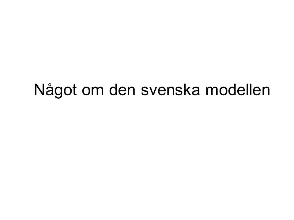 Något om den svenska modellen