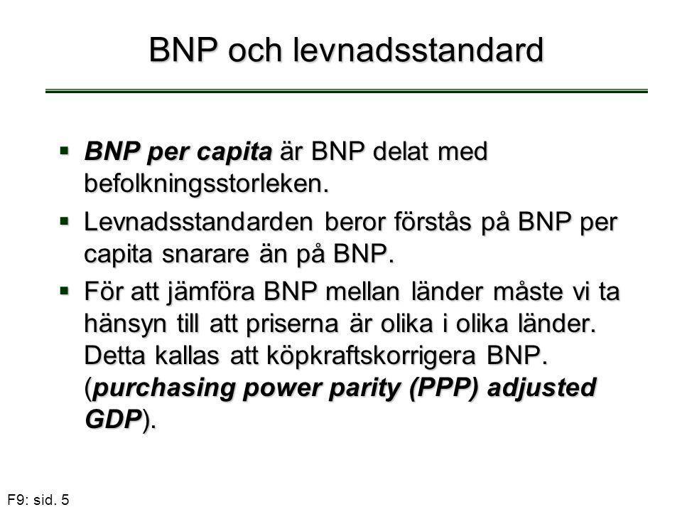 F9: sid.36 Solow modellen När växer produktion och kapital per capita.