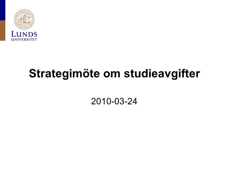 Strategimöte om studieavgifter 2010-03-24