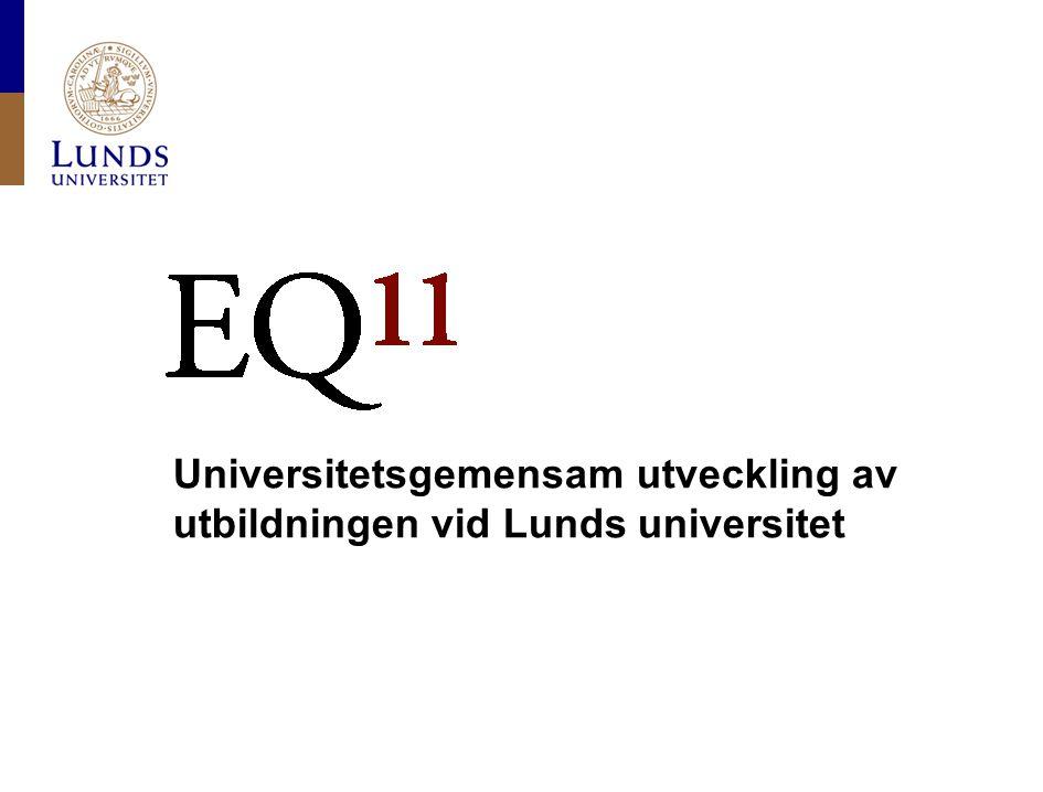 Lunds universitet / Stefan Lindgren / 14 September 2010 Exempel på frågor i självvärderingen (2) Does your decision structure support the needs of education.