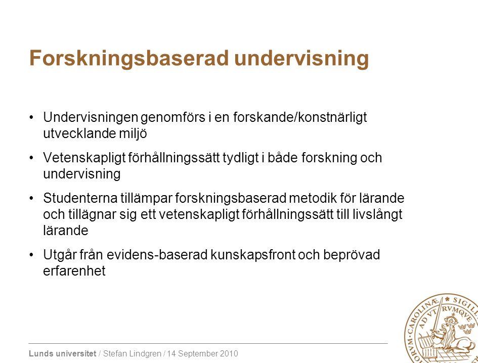 Lunds universitet / Stefan Lindgren / 14 September 2010 EQ11 - Genomförande Ordförande: prorektor Eva Åkesson Medlemmarna i styrgruppen är utsedda av prorektor Styrgrupp Internationell bedömargrupp 12-16 personer Ordf.