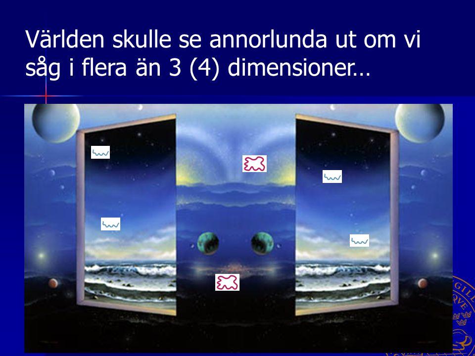 Paula Eerola 18 oktober 2005 20 Det är möjligt att för varje punkt i rummet finns det nya, ihopkrökta dimensioner, som vi inte kan observera. Världen
