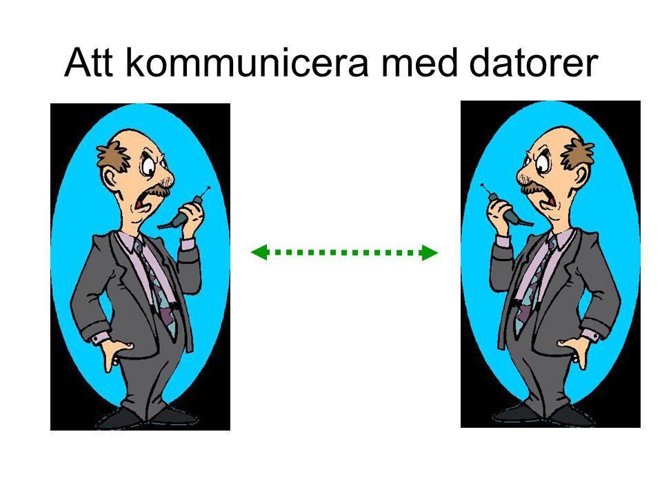 Att kommunicera med sin dator