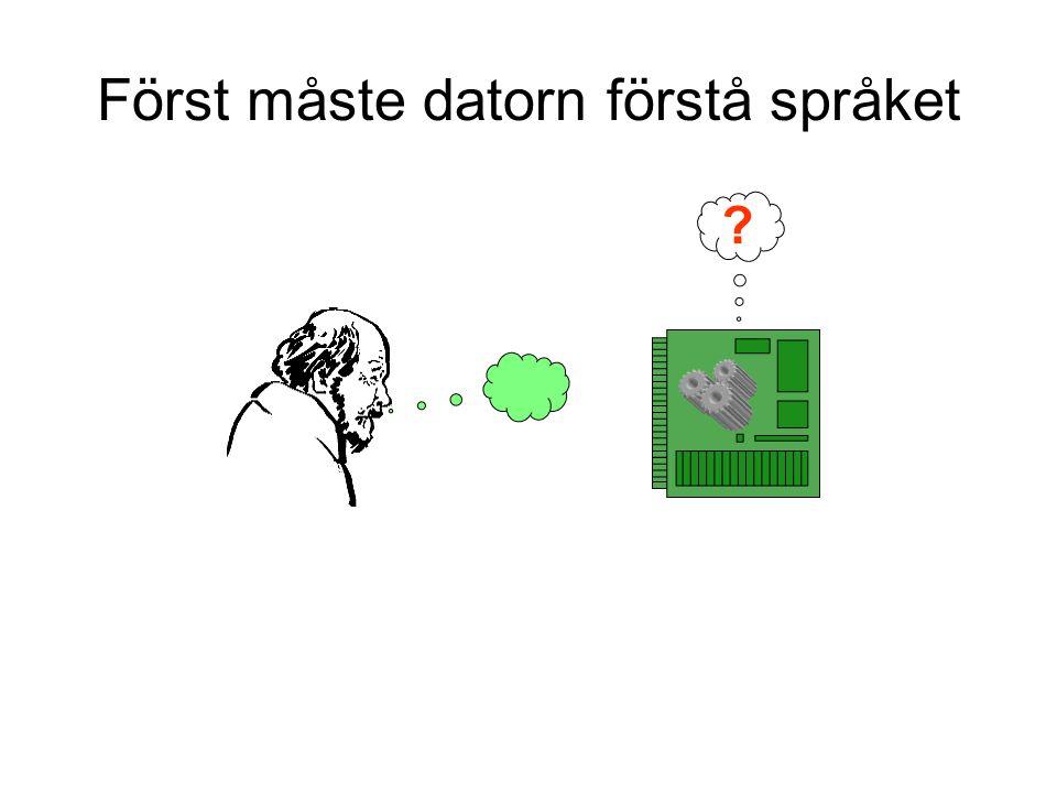 Först måste datorn förstå språket ?
