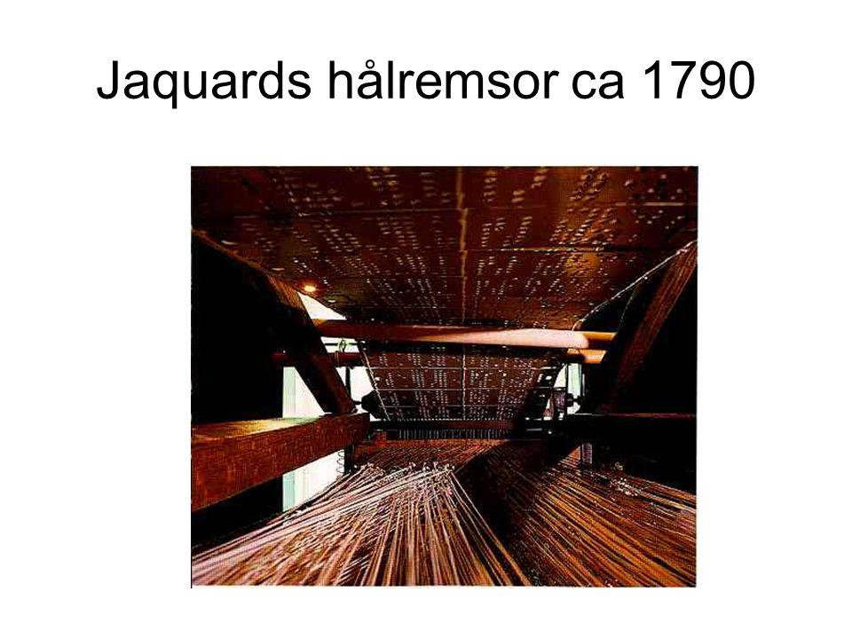 Jaquards hålremsor ca 1790