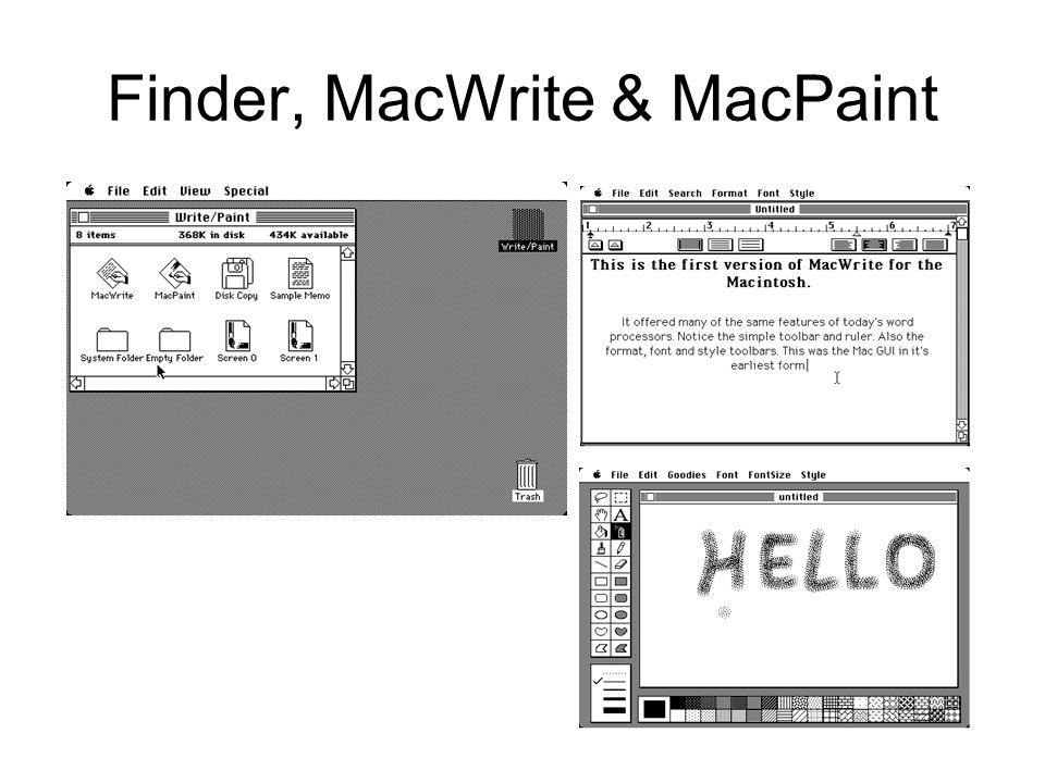Finder, MacWrite & MacPaint
