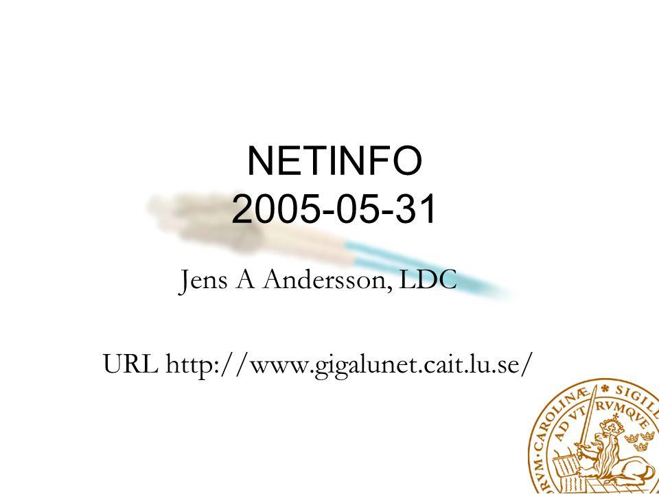 Ny projektledare LDC har övertagit projektledaransvaret för GigaLUNET Jonas Olsson ersätter Hans Nielsen