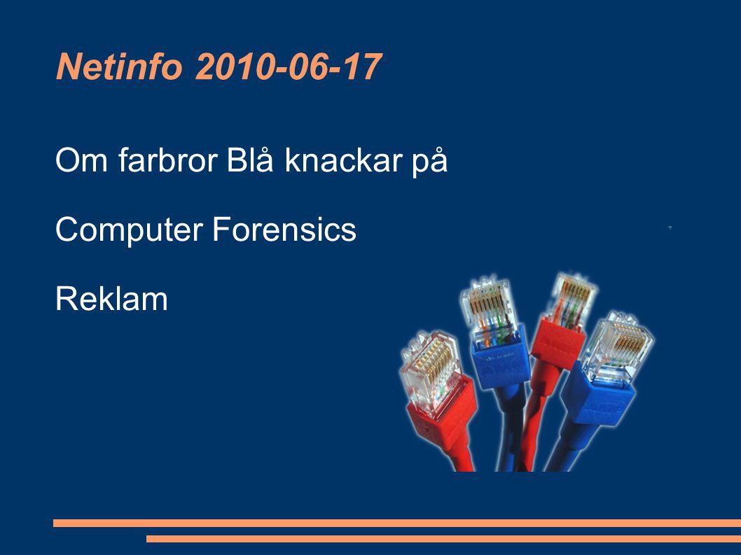 Netinfo 2010-06-17 Om farbror Blå knackar på Computer Forensics Reklam