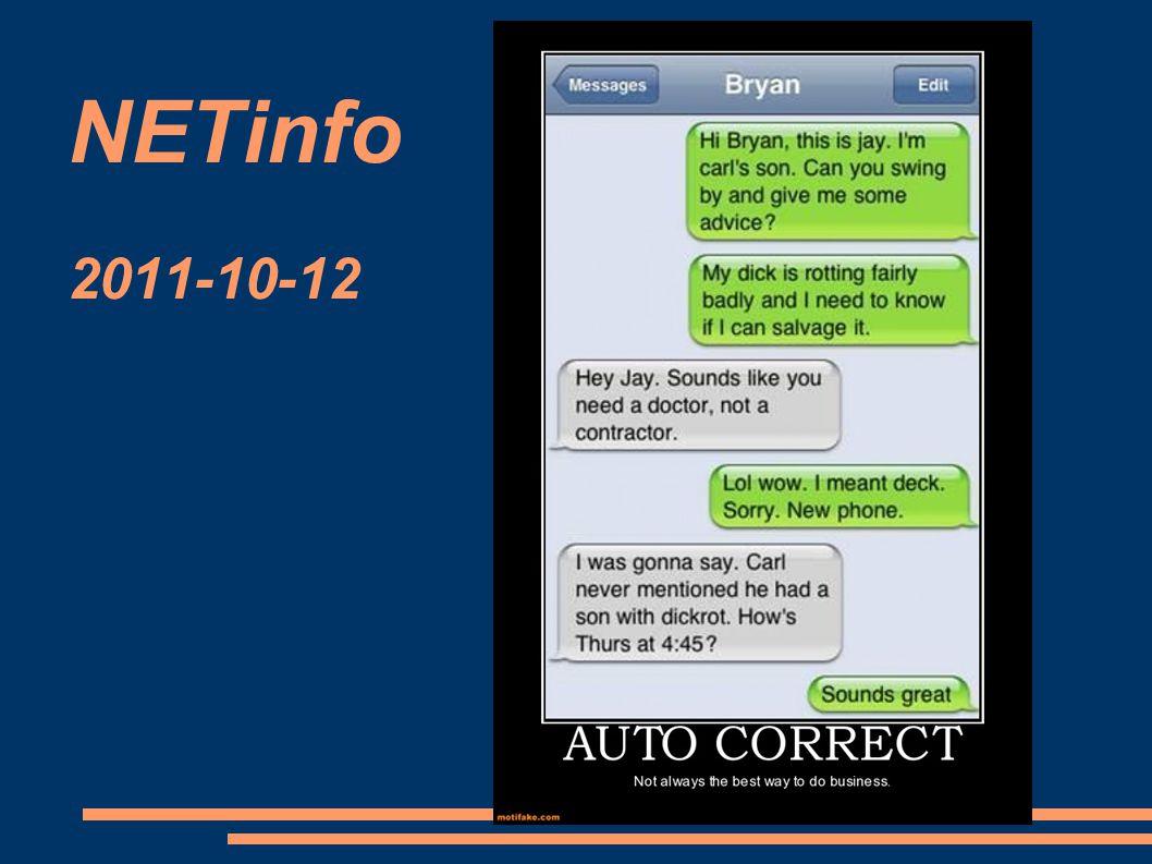 NETinfo 2011-10-12