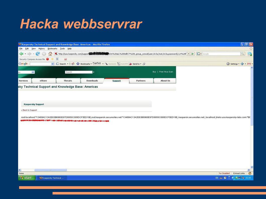 Hacka webbservrar