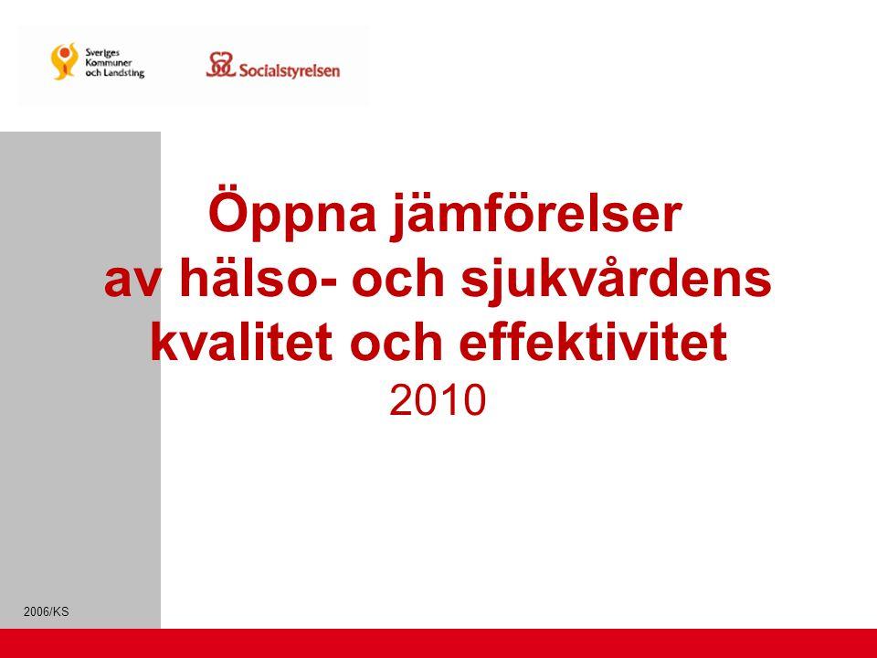 2006/KS Öppna jämförelser av hälso- och sjukvårdens kvalitet och effektivitet 2010