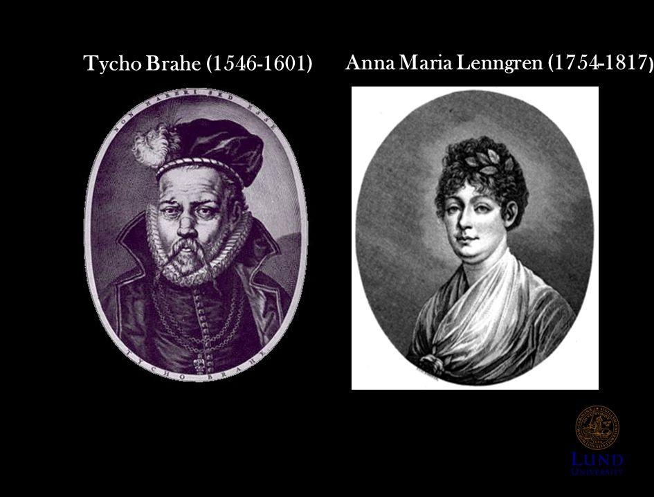 Tycho Brahe (1546-1601) Anna Maria Lenngren (1754-1817 )