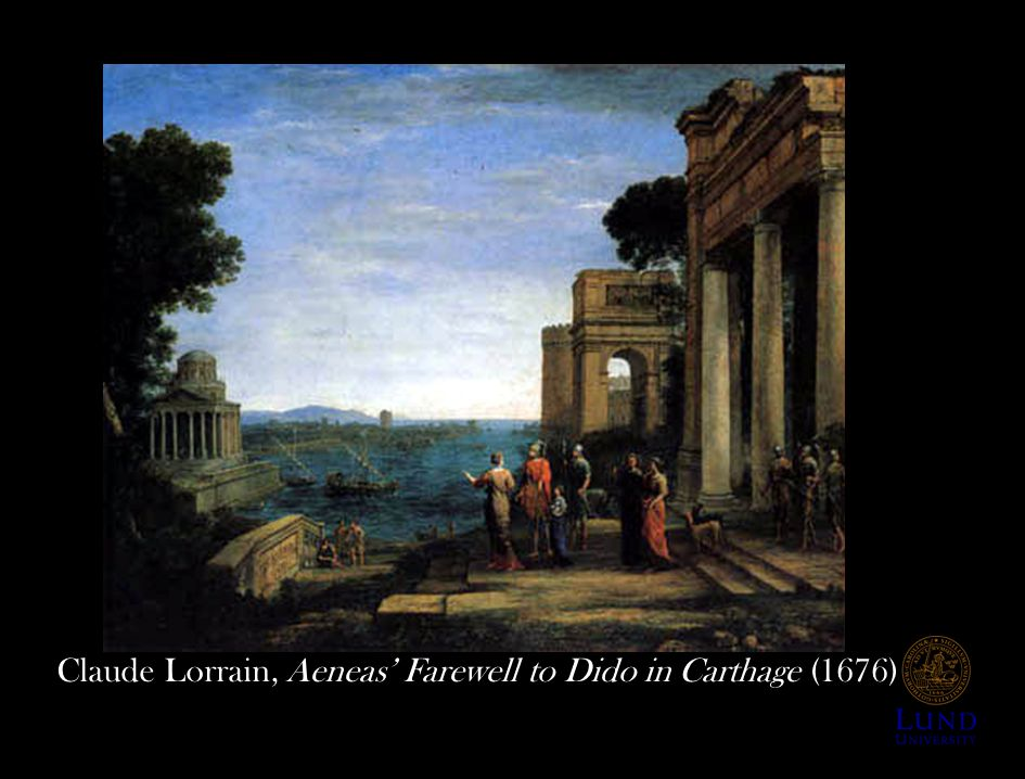 Claude Lorrain, Aeneas' Farewell to Dido in Carthage (1676)
