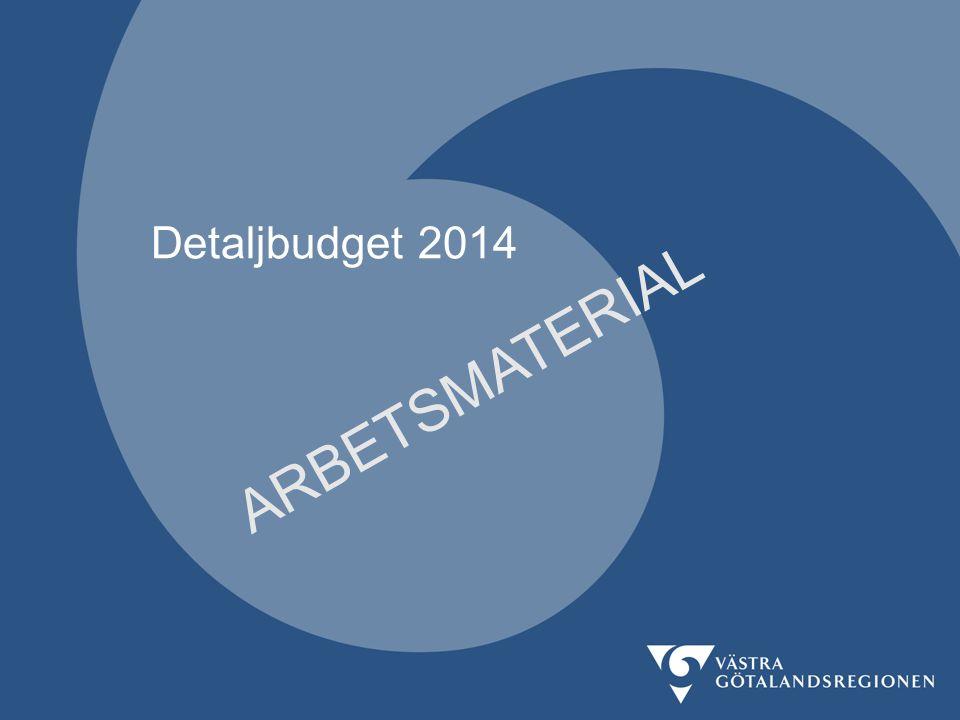 Detaljbudget 2014 ARBETSMATERIAL