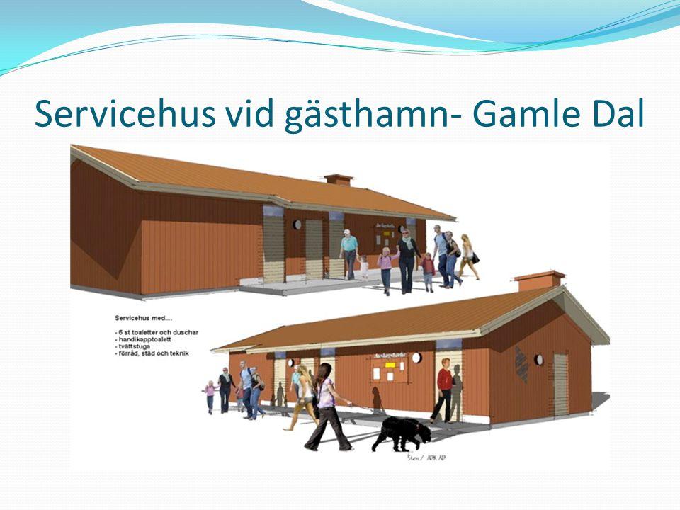 Servicehus vid gästhamn- Gamle Dal