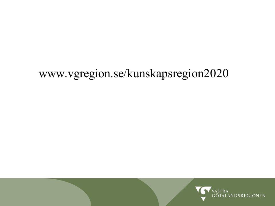 Lidköping 090819 12 www.vgregion.se/kunskapsregion2020