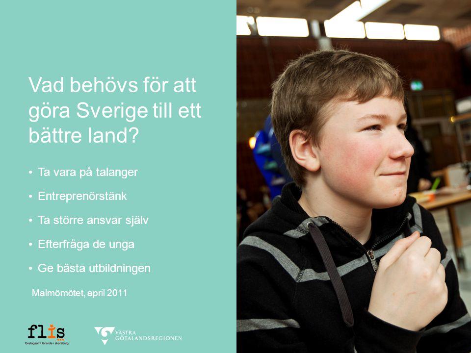 Vad behövs för att göra Sverige till ett bättre land.
