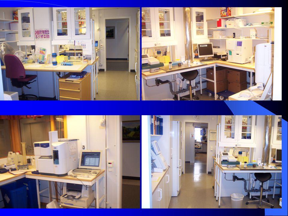 Provsortering Prioritering Inskrivning av remisser Venösa och kapillära prover Prover som analyseras på AVC-lab Prover till Kem.lab via rörpost Prover till andra lab