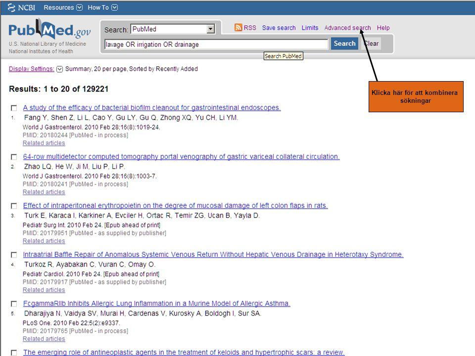 Klicka här för att kombinera sökningar