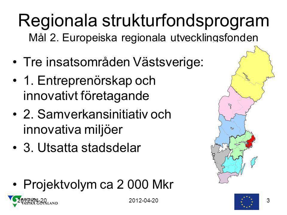 2012-04-20 3 Regionala strukturfondsprogram Mål 2.