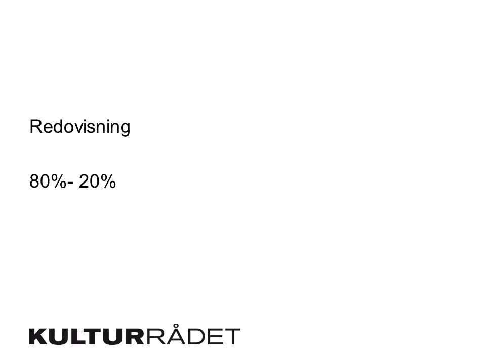 Redovisning 80%- 20%