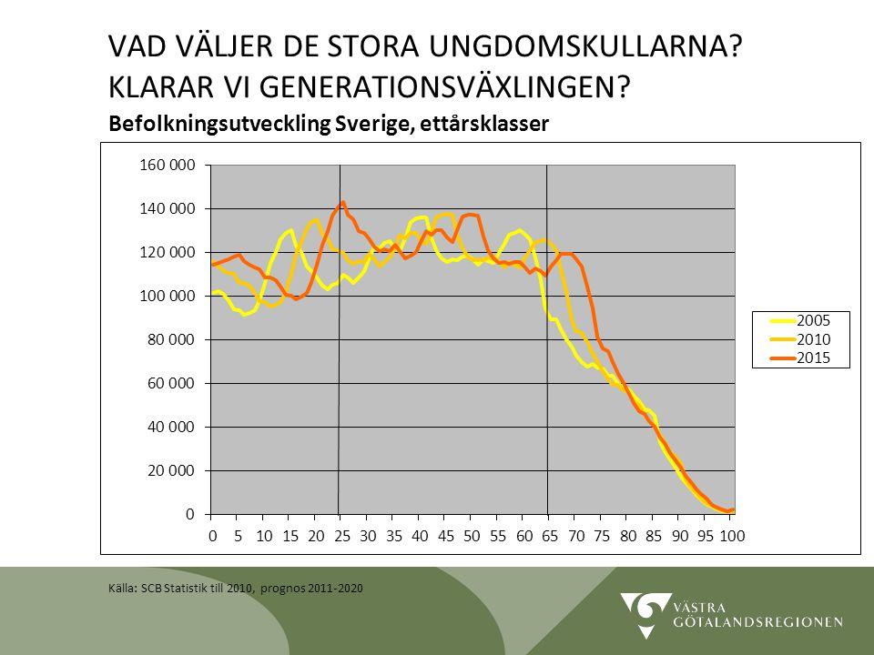 Lidköping 090819 17 Befolkningsutveckling Sverige, ettårsklasser VAD VÄLJER DE STORA UNGDOMSKULLARNA? KLARAR VI GENERATIONSVÄXLINGEN? Källa: SCB Stati