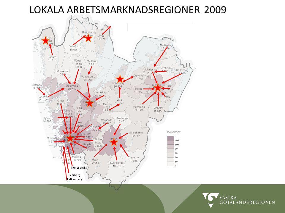 Lidköping 090819 20 LOKALA ARBETSMARKNADSREGIONER 2009
