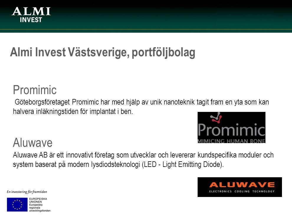 Almi Invest Västsverige, portföljbolag Promimic Göteborgsföretaget Promimic har med hjälp av unik nanoteknik tagit fram en yta som kan halvera inläkni