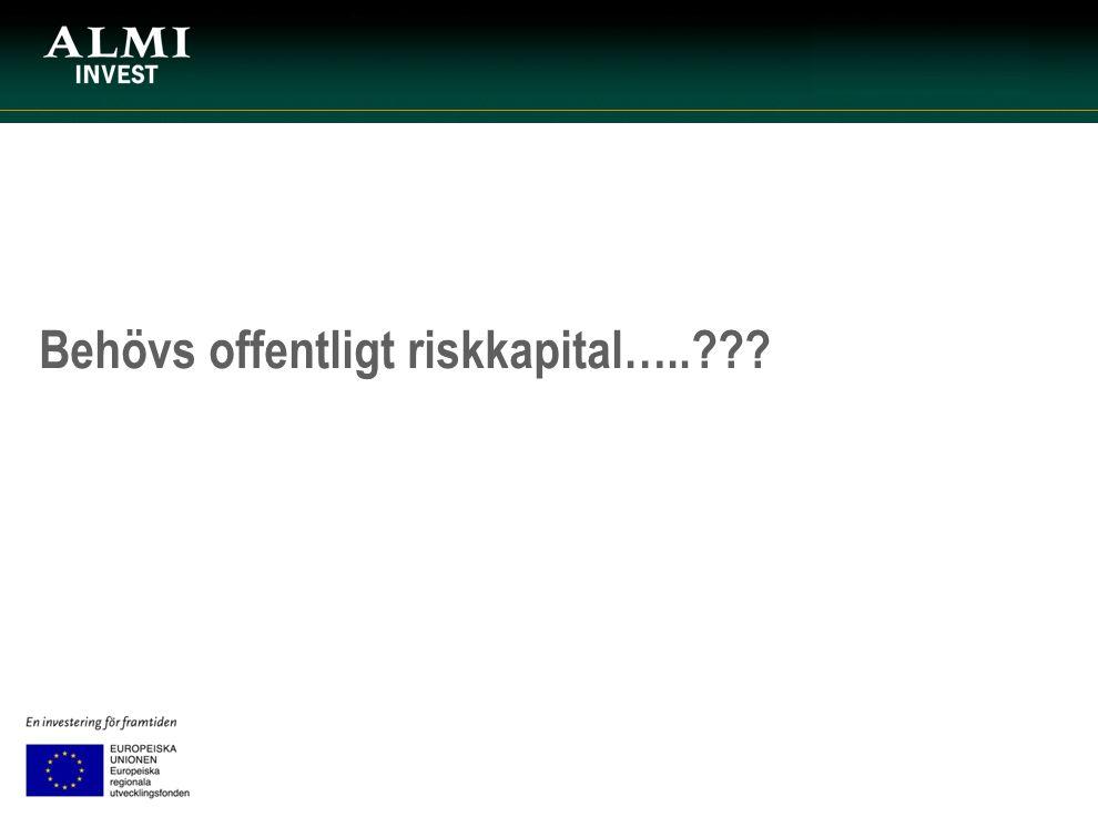 Behövs offentligt riskkapital…..???