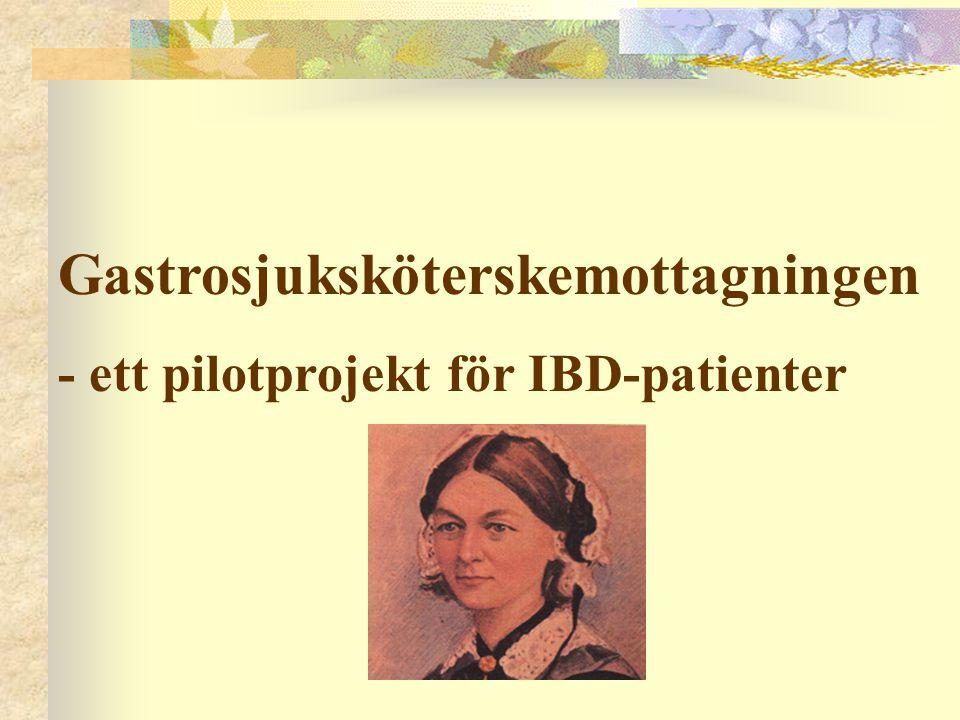Gastrosjuksköterskemottagningen - ett pilotprojekt för IBD-patienter