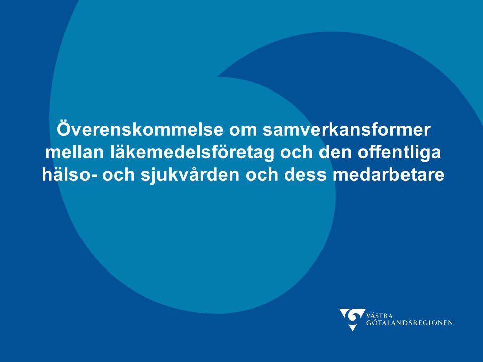Överenskommelse om samverkansformer mellan läkemedelsföretag och den offentliga hälso- och sjukvården och dess medarbetare