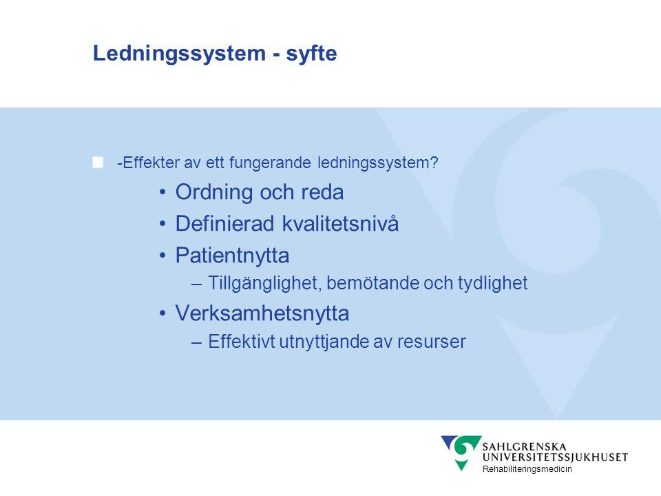 Rehabiliteringsmedicin Känna sina förmågor Dvs faktorer som påverkar vad vi kan och inte kan göra Resurser Processer Värderingar Varför t.ex.