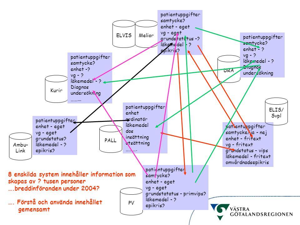 Informationsstruktur patientuppgifter samtycke/ja - nej enhet - fritext vg - fritext grundstatus - vips läkemedel - fritext omvårdnadsepikris ELIS/ Sv