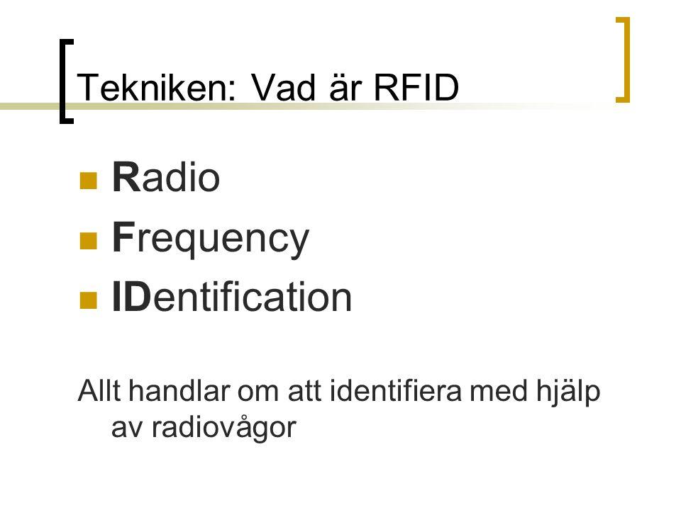 Tekniken: Vad är RFID Radio Frequency IDentification Allt handlar om att identifiera med hjälp av radiovågor