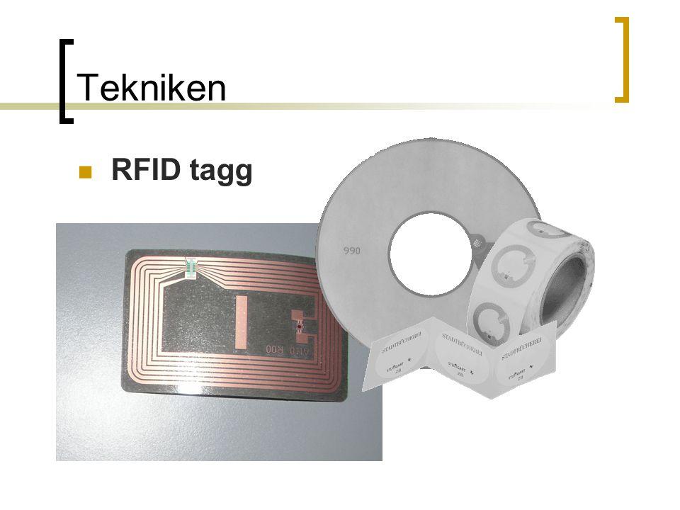 Tekniken RFID tagg