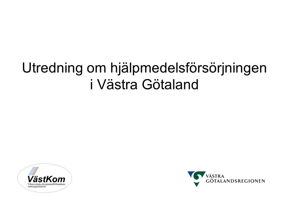 Utredning om hjälpmedelsförsörjningen i Västra Götaland