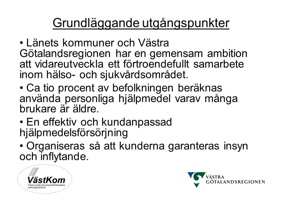 Grundläggande utgångspunkter Länets kommuner och Västra Götalandsregionen har en gemensam ambition att vidareutveckla ett förtroendefullt samarbete inom hälso- och sjukvårdsområdet.