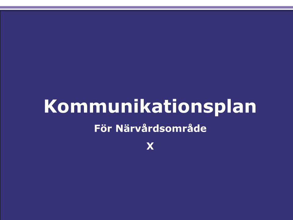 Resterande bilder tar upp: vad kommunikationspolicyn för Närvårdssamverkan Södra Älvsborg säger om förhållningssättet kring kommunikation goda exempel på kommunikationsaktiviteter i närvårdsområdena