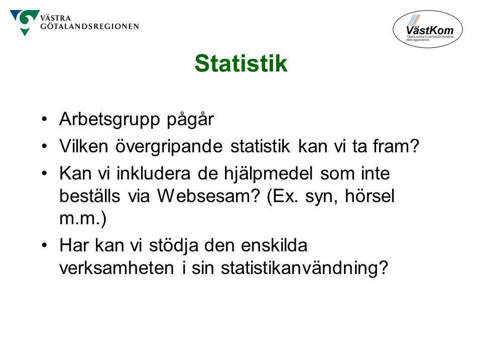 Statistik Arbetsgrupp pågår Vilken övergripande statistik kan vi ta fram.