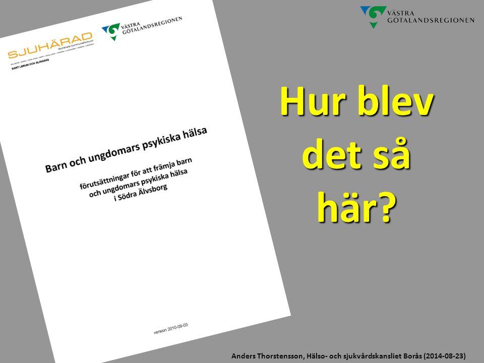 Hur blev det så här? Anders Thorstensson, Hälso- och sjukvårdskansliet Borås (2014-08-23)