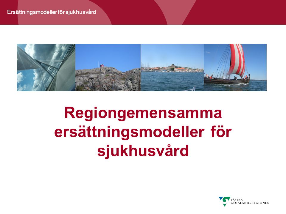 Ersättningsmodeller för sjukhusvård Regiongemensamma ersättningsmodeller för sjukhusvård
