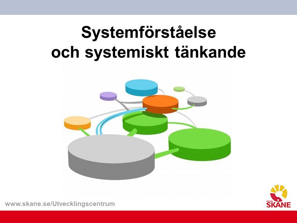 www.skane.se/Utvecklingscentrum Systemförståelse och systemiskt tänkande