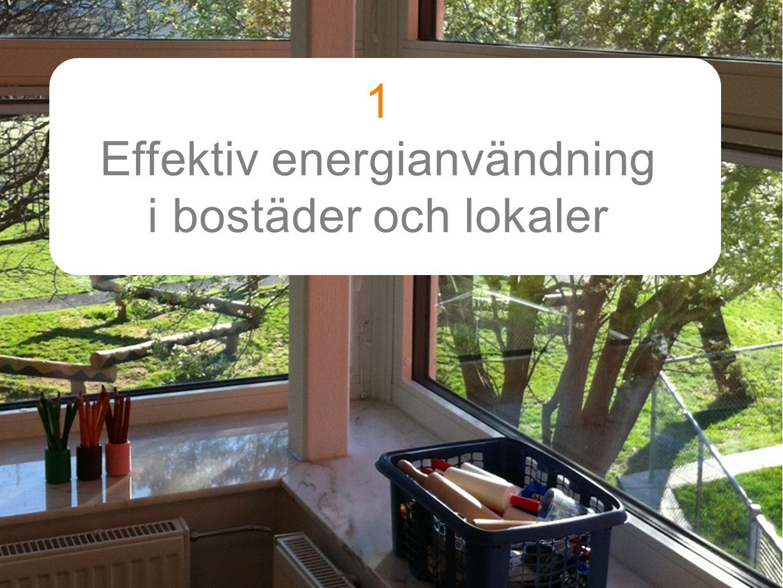 1 Effektiv energianvändning i bostäder och lokaler Text