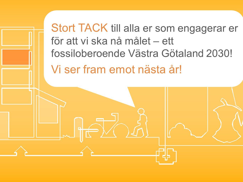 Stort TACK till alla er som engagerar er för att vi ska nå målet – ett fossiloberoende Västra Götaland 2030! Vi ser fram emot nästa år!
