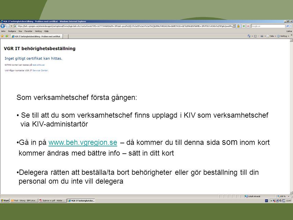 REGIONSERVICE, VGR IT Skapa delegering för en ny beställare I dessa exempel ska vi ge användaren Fredrik Eriksson (freer1) följande delegeringar: Beställa och attestera Uppdrag för Kirurg och ortopediklinik.