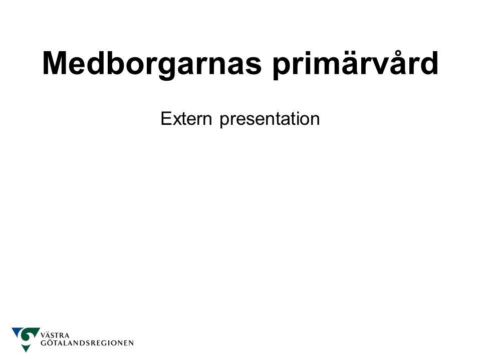 Medborgarnas primärvård Extern presentation
